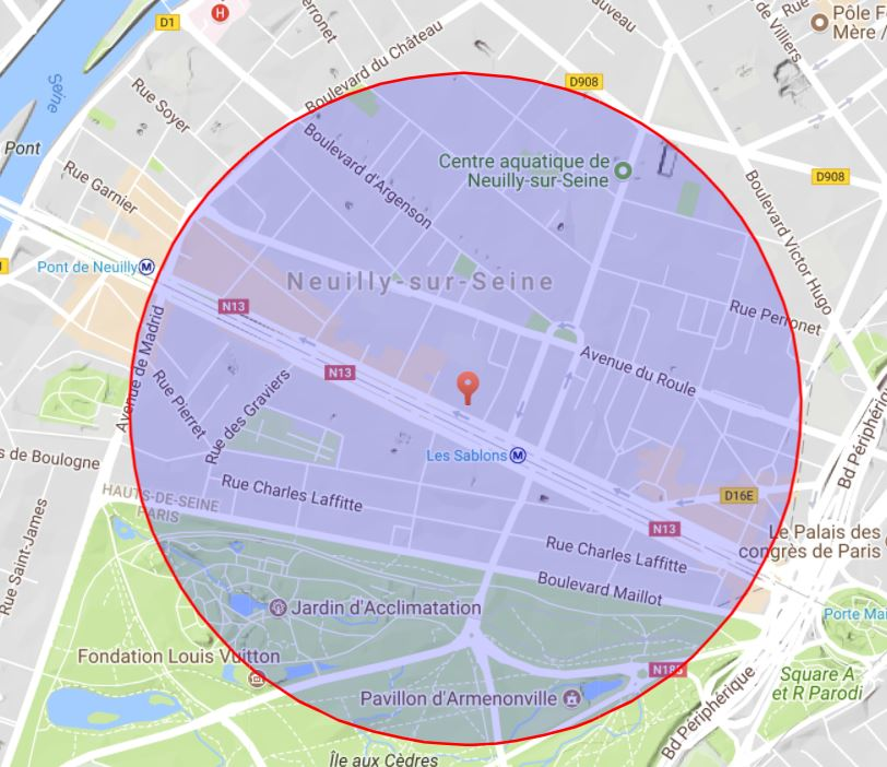 Map neuilly